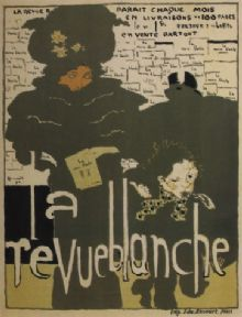Vintage french magazine cover - La revue blanche